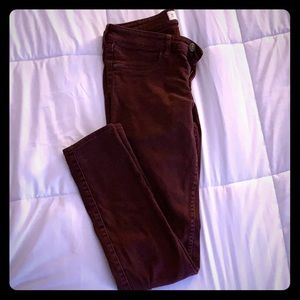 Abercrombie & Fitch wine colored jeans